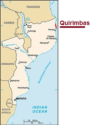 Quirimbas, where they are