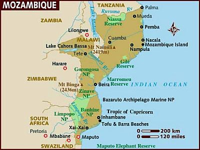 Map - Mozambique