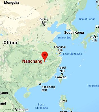 Nanchang, where it's located