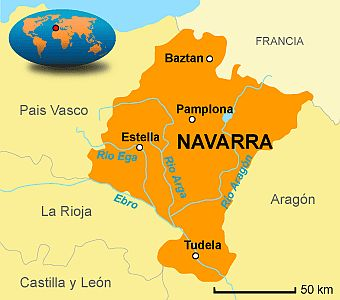 Navarre, map