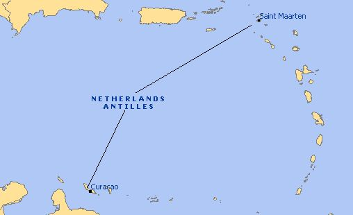 Map - Netherlands Antilles