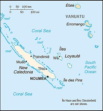 Map - New Caledonia