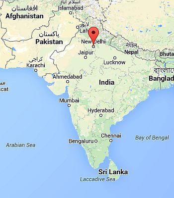New Delhi, where it is