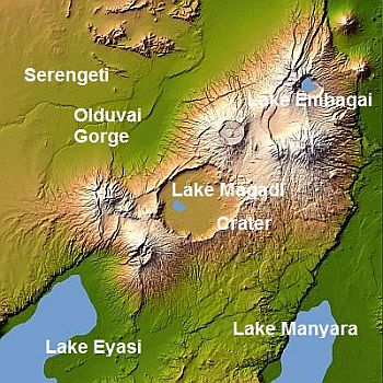 Ngorongoro, map