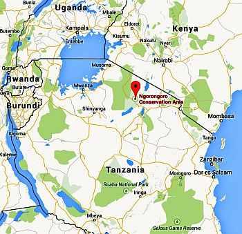 Ngorongoro, where it is
