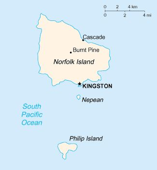 Map - Norfolk Island