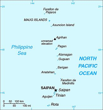 Map - Northern Mariana Islands
