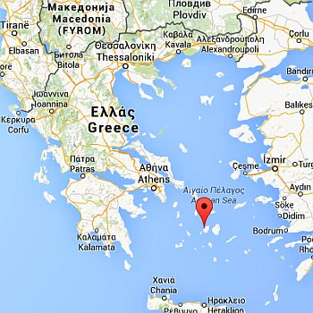 Position of Paros