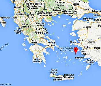 Position of Patmos