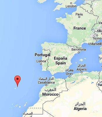 Porto Santo, where it's located