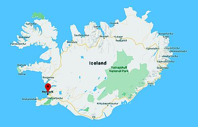 Reykjavik, where it's located