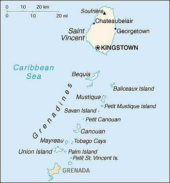 Map - Saint Vincent And Grenadines