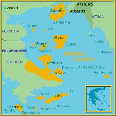 Climate in Saronic Islands temperature precipitation when to go