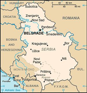 Map - Serbia