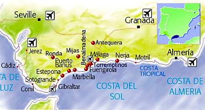 South Coast Of Spain Map.Andalusia Climate Average Weather Temperature Precipitation Best