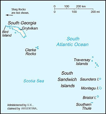 Map - South Georgia