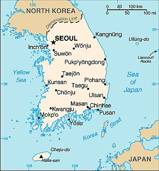 Map - South Korea