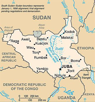 Map - South Sudan