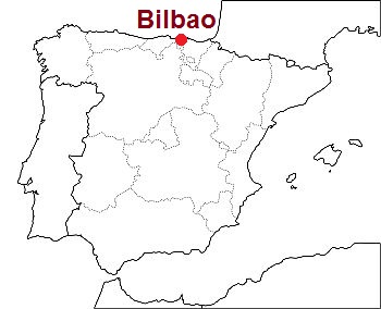 Bilbao, where it lies in the map