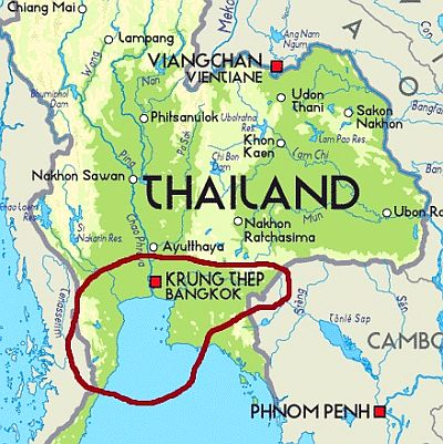 Thailand - Bangkok and surrounding areas