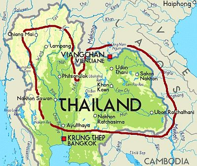 Thailand - inland plains