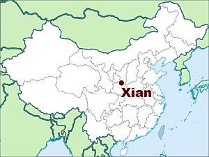 Xian, where it is