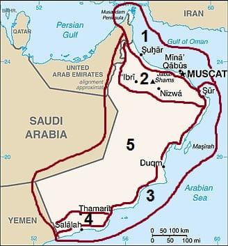 Climates in Oman