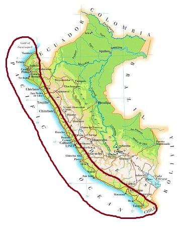 Peru, climate of the coast