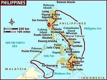 Philippines - areas with equatorial climate
