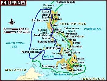 Philippines - areas with a tropical climate