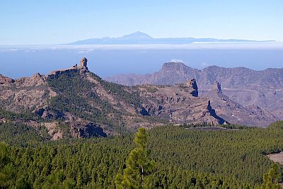 Landscape of Pico de las Nieves, Teide in the background