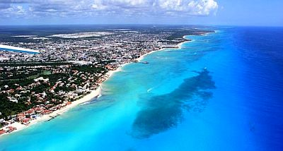 Playa del Carmen, from above