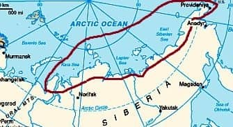 Siberia, arctic and subarctic climate zone