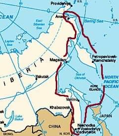 Siberia, eastern coasts and islands