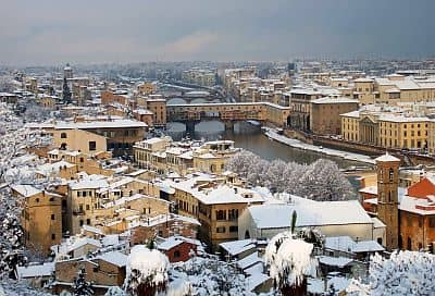 Snow in Florence