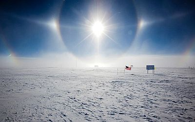 Sundogs in Antarctica