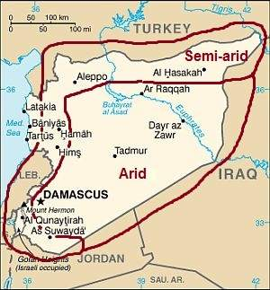 Aridity in the Syrian inland areas