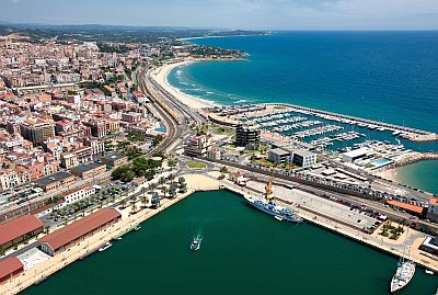 Port of Tarragona from above