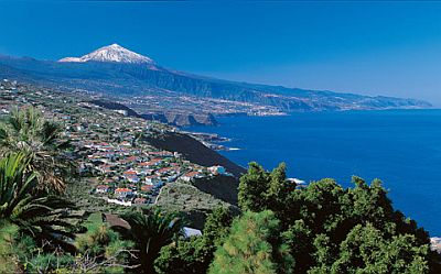 Tenerife, sea and Teide in the background