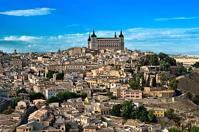 Toledo, Alcazar in the background