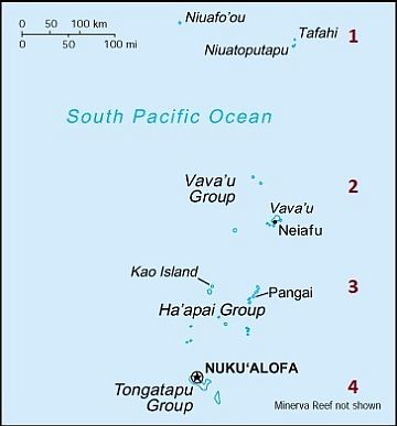 Division of the Tonga Islands into groups