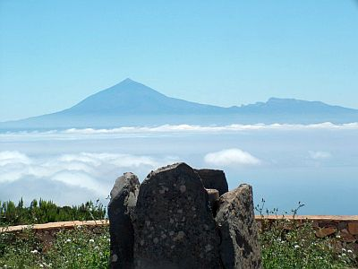 View from the top of Garajonay, Mount Teide in the background