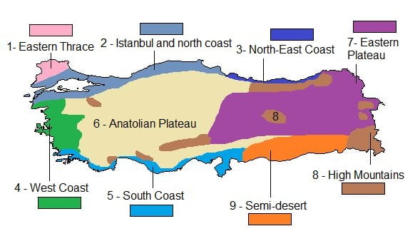 Climates in Turkey
